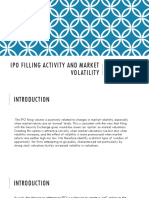 IPO Filling Activity and Market Volatility