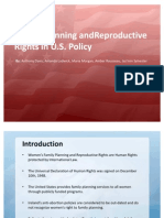 Family Planning and Reproductive Rights in U.S. Policy