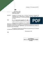 Oficio e Informe Para Viajar a Espinar