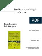 Una invitacion a la sociologia reflexiva - Bourdieu y Wacqant