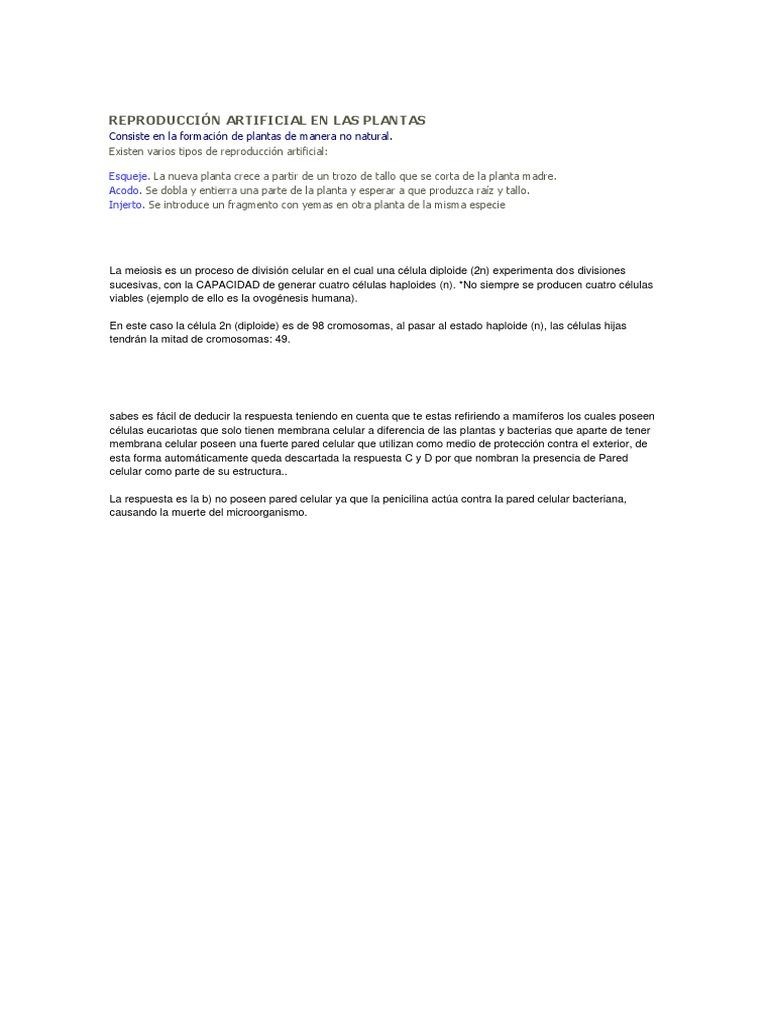 Reproducción Artificial En Las Plantas Docx