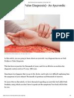 Nadi Pariksha (Pulse Diagnosis)- An Ayurvedic Tool
