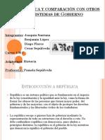 República y Comparación Con Otros Sistemas de Gobierno