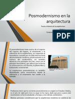 El Posmodernismo en La Arquitectura