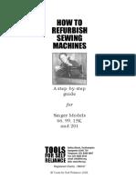 How to refurbish sewing machines - TFSR Refurbishment Guide