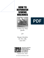 How to refurbish sewing machines - TFSR Refurbishment Guide