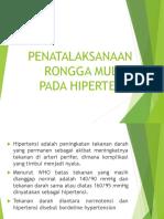 23042017 Penatalaksanaan Rongga Mulut Pada Hipertensi by Drg. Endartini Kusumastuti