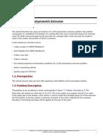 Polyflow Extrusion WS01 Axisymmetric