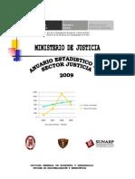 Anuario Estadístico del Sector Justicia (2009)