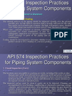 API 574 Inspection Practices While Piping System is Shutdown
