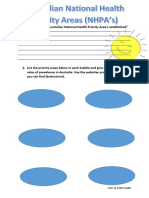 australian national health priority area worksheet