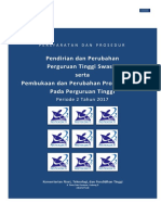 Persyaratan Dan Prosedur Pendirian PTS Dan Prodi PT 2017 2