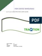 TraQtion Costco Supplier Registration User Guide
