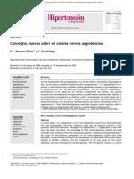 Conceptos Nuevos Sobre El Sistema Renina Angiotensina