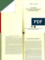 Negretto,G.LaPolíticadelCambioConstitucionalEnAL