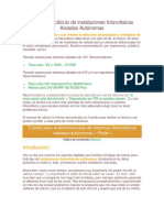 Manual de Cálculo de Instalaciones Fotovoltaicas Aisladas Autónomas