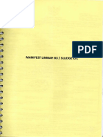 Manifest Limbah B3 (Sludge Oil)