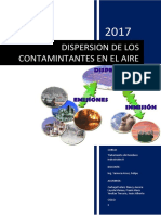 Dispersion de Los Contaminantes Del Aire