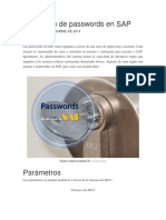 La Gestión de Passwords en SAP