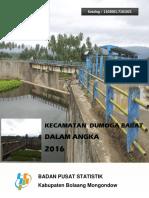 Kecamatan Dumoga Barat Dalam Angka 2016