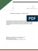 Marco Teórico Participación Ciudadana Chile