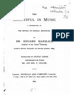 Eduard Hanslick - The Beautiful in Music (1854) [Eng. Transl. 1891]