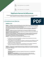 Reglamento Nacional de Edificaciones Explicación