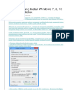 Cara Gampang Install Windows 7 Dengan Flasdisk