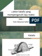 Faktor Katalis Yang Mempengaruhi Laju Reaksi