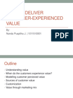 How to Deliver Customer-Experienced Value