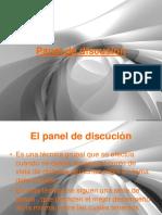 El panel de discusión.ppt