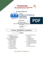 HN DAA 15CS43 LectureNotes 1