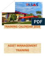 Training Schedule 2016