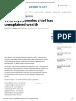 Comelec Chief Unexplained Wealth