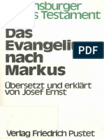Josef Ernst Das Evangelium Nach Markus