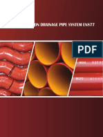 DS EN877 epoxy cast iron pipes&fittings