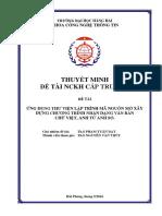 Tuan Dat - Thuyet Minh Nckh 2016