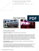 Gay Cuba Guide - Guide to Havana's Gay Bars, Gay Clubs, And Beaches
