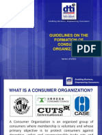 G.1 Guidelines on the Formation of Consumer Organizations