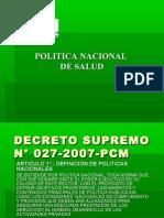 POLÍTICA NACIONAL DE SALUD 2008