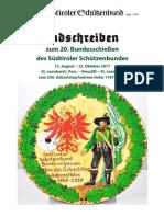 Ladschreiben Bundesschießen 2017