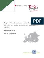 Regional Parliamentary Institutions