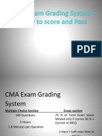 CMA Exam Grading System
