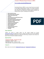 International Journal of Pharmacological Sciences (IJPS)