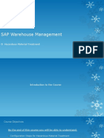 Hazardous Material Treatment in SAP WM