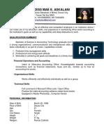 Resume f