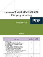 Advanced Data Structure and C++ programming
