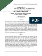 PEMBERITAAN   HUMAN TRAFFICKING (PERDAGANGAN MANUSIA)  DALAM SURAT KABAR ELEKTRONIK   DI LIMA NEGARA ASEAN