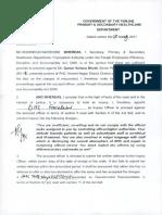 Order No. SO (WMO)22-54 CR 2009 , Dr. Qamar Sultana Bhatti , SWMO BS-18, 17-5-17