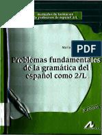 Problemas Fundamentales de la Gramática del Español como 2-L